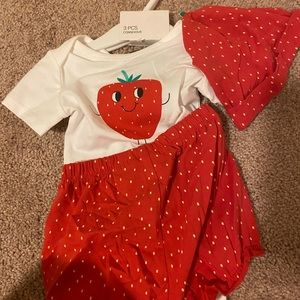 Strawberry 3 piece outfit